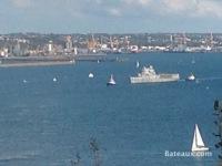 La Jeanne in the Brest Narrows - 5