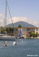 Port Grimaud at the foot of the mountains