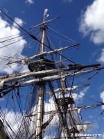 The masts of the Hermione | Brest 2016